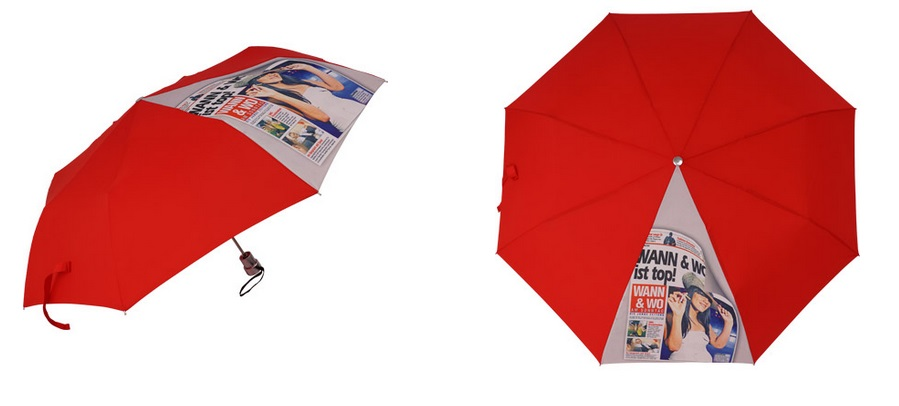 logo na parasolu